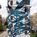 (Movement) Flowing Swarms of Animals and Other Beasts Painted on Urban Walls by 'Pantonio'