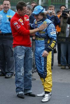 Michael Schumacher, F1 Racing, Compliments, Parachute Pants, Ferrari, Bomber Jacket, Jackets, Fashion, Auto Racing