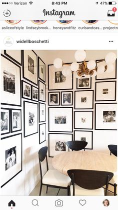 Corner gallery wall installed and finished at This gallery wall showcases my client's family photos. I love when spaces tell a story and history of the people living in them. Inspiration Wand, Design Inspiration, Design Ideas, Home Decoracion, My New Room, Frames On Wall, Empty Frames, Room Decor, Interior Design