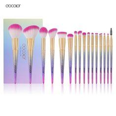 Docolor 16pcs makeup brushes set professional blush powder foundation eyeshadow eyeliner lip make up brush beauty cosmetic tools