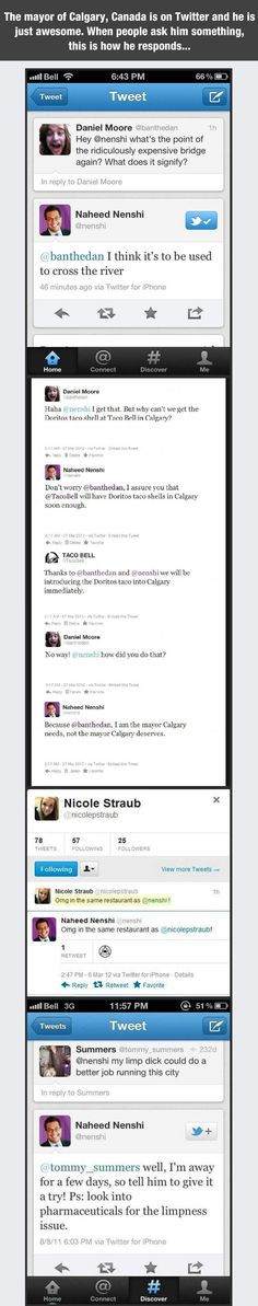 People Bash Mayor On Twitter, His Responses Are Epic...