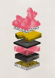 "Sandra Milanovic, ""Layers of Need"", Silkscreen, Ediiton of 100, $80"