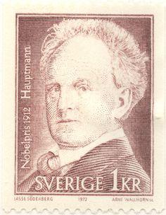 "Sweden 1kr ""Nobel Price Winners 1912"" - Hauptmann 1972. Arne Wallhorn sc."