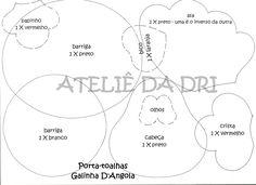 MOLDES DE E.V.A: PORTA GALINHA D´ANGOLA.