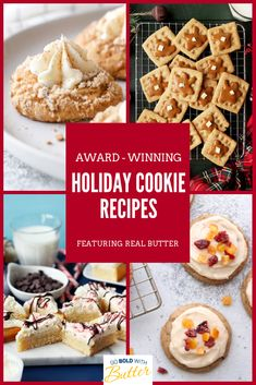 Our annual holiday cookie contest brings us some of the best recipes we've ever tasted. We've had some delicious winners from the last four years. Try one of these prize-winning recipes and you'll see what we mean! New Year's Desserts, Holiday Desserts, Holiday Treats, Holiday Cookie Recipes, Holiday Baking, Christmas Baking, Roll Cookies, Holiday Cookies, Christmas Sweets