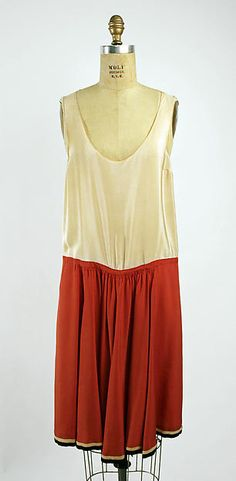 Dress Nellie Harrington (American) Date: 1928 Culture: American Medium: silk Dimensions: (a) Length at CB: 26 in. (66 cm) (b) Length at CB: 39 in. (99.1 cm)