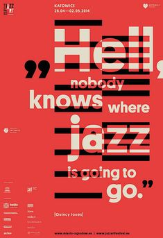 jazz art festival 2014 by marta gawin - typo/graphic posters Typo Design, Graphic Design Projects, Graphic Design Posters, Graphic Design Typography, Graphic Design Illustration, Graphic Design Inspiration, Web Design, Geometric Graphic, 2020 Design