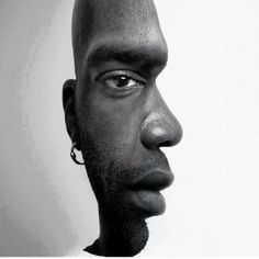 """""""Dope art.. Which way is he facing?"""" ...this kind of scared me lol"""