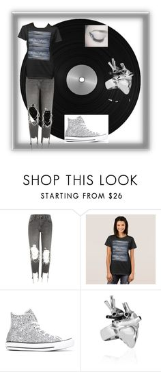"""""""Moody Grey Sky Print"""" by renstockpile ❤ liked on Polyvore featuring River Island, Converse, StrangeFruit, grunge, CasualChic, rocknroll and moody"""