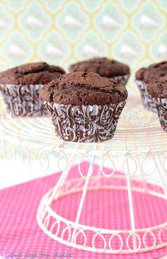 Muffins de chocolate negro y avellanas