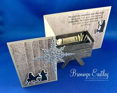 Child of Bethlehem, Moon Baby, Star of Light, Night in Bethlehem, Baby in a Manger, Pop-Up, Z-Fold, Wood Crate, Stampin' Up! #addinktivedesigns