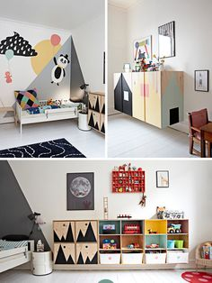 Scandinavian Kid's Room Design Ideas You'll Want To Steal This artfully designed boy's room is a visual adventure.This artfully designed boy's room is a visual adventure. Scandinavian Kids Rooms, Scandinavian Interior, Kids Room Design, Daycare Room Design, Kid Spaces, Small Spaces, Space Kids, Boy Room, Child Room