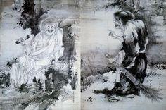 Hanshan-and-Shide-by-Soga-Shohaku.jpg (754×500)