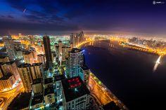 Sky Line of Sharjah Waterfront.