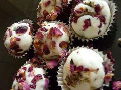 cupcakes de jabon con flores secas