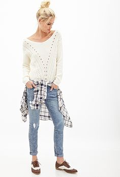 Off-the-Shoulder Knit Sweater | Forever 21