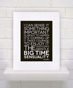 Bjork Lyrics  Big Time Sensuality  11x14  poster by KeepItFancy, $10.00