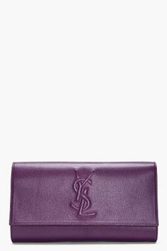 Yves Saint Laurent Purple Belle De Jour Clutch for women | SSENSE 650.00