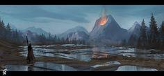 Wetlands eruption, Roberto Gatto on ArtStation at https://www.artstation.com/artwork/wetlands-eruption