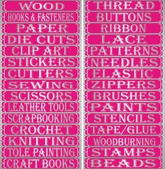 Home My Site For Sore Eyes Craft Label Craft Supply Labels Storage Labels