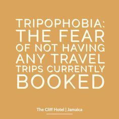 If you've got tripophobia then we would suggest dealing with that travel bug and getting yourself booked with a trip to Jamaica and The Cliff Hotel Jamaica Hotels, Jamaica Travel, Cliff Hotel, Funny Travel Quotes, Inspirational Words Of Wisdom, Negril, One Liner, Thought Provoking, Make You Smile