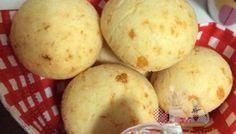 Pão de queijo macio com cream cheese