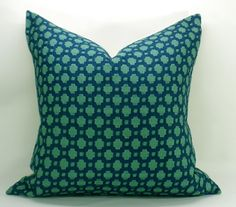 Items similar to Schumacher Betwixt Pillow Cover - Peacock and Seaglass - Custom Size on Etsy Pillow Inserts, Pillow Covers, Down Pillows, Throw Pillows, Living Room Pillows, Living Rooms, Modern Pillows, Fabric Remnants, Home Decor Fabric