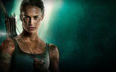 Download wallpapers Lara Croft, Tomb Raider, 2018 movie, poster, Alicia Vikander