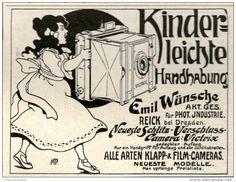 Original-Werbung/Inserat/ Anzeige 1905 - SCHLITZ-VERSCHLUSS-CAMERA VINTRIX / WÜNSCHE- ca. 90 X 60 mm