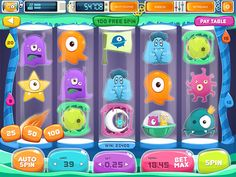 "Slot Game ""Space Slots"" by Olya Lunter, via Behance"
