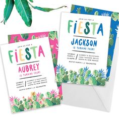 Fiesta Birthday Party  // Mexican Party Invitation, Summer Fiesta Party Invite, Cactus Birthday Party Invitation, Let's Fiesta Birthday by AllieVaughanDesign on Etsy https://www.etsy.com/listing/234420154/fiesta-birthday-party-mexican-party