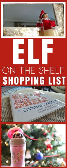 Find everything you need for Elf on the Shelf including a complete Elf on the Shelf shopping list and over one month of Elf on the Shelf ideas! Elf on a Shelf | Elf Ideas | Best Elf on the Shelf Ideas | How to Introduce the Elf on the Shelf | Funny Elf on