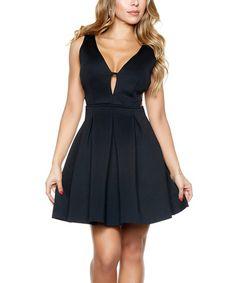 Look at this #zulilyfind! Black Prim & Proper Dress #zulilyfinds