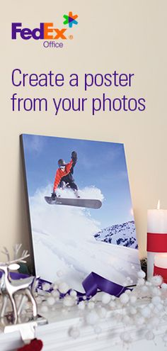 """Photo posters are printed in brilliant color and come on a ¾"""" thick rigid black board. They come ready to hang and most print in under 24 hours, so start printing yours for a quick and stylish holiday gift or décor piece."""