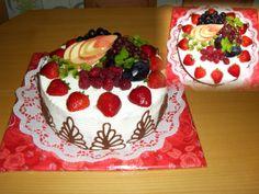 cake fruit šlehačkový dort