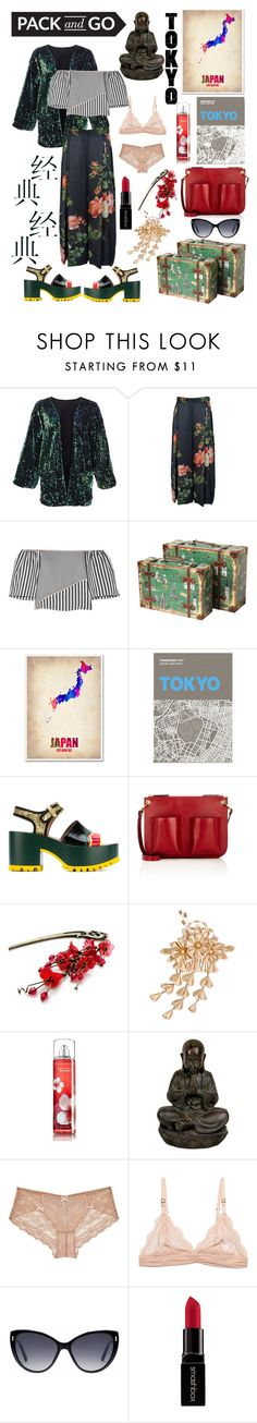 """PACK AND GO: TOKYO!!!!"" by kskafida ❤ liked on Polyvore featuring La Ligne, Trademark Fine Art, Palomar, Marni, Myla, STELLA McCARTNEY, Gucci and Smashbox"