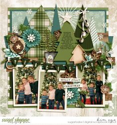 Digital scrapbook layout fir Christmas using Duo 49 - Peace & Joy templates by Brook Magee; and A Merry December: Peace & Joy by Kristin Cronin-Barrow (found at Sweet Shoppe Designs)