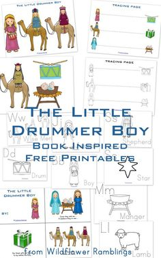 The Little Drummer Boy {free book-inspired printables!} from Wildflower Ramblings