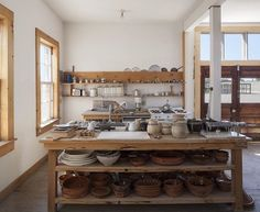 Located within La Mansana de Chinati/The Block is Donald Judd& two-story home that was formerly offices of the U.S Army's Quartermaster Corps. Home Decor Kitchen, Rustic Kitchen, Kitchen Interior, Home Interior Design, Home Kitchens, Kitchen Design, Interior Decorating, Myconos, The Block