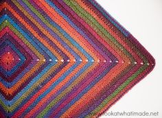 Continuous Crochet Baby Blanket