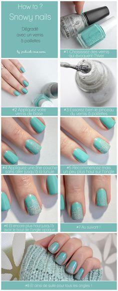 Pinned by www.SimpleNailArtTips.com TUTORIALS: NAIL ART DESIGN IDEAS - Snowy Nail Art Manicure