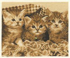 DMC Kittens free cross stitch