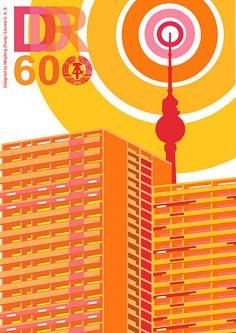 Hereby I designed this poster to celebrate the great 60th anniversary of the DDR     TV BROKEN !