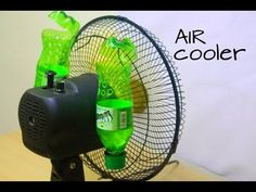The best DIY projects & DIY ideas and tutorials: sewing, paper craft, DIY. How to make air conditioner at home using Plastic Bottle - Easy life hacks Video Description Learn:How to make air conditioner at home using Plastic Cooler Air Conditioner, Homemade Air Conditioner, Amazing Magic Tricks, Life Hacks Youtube, Diy Cooler, Ideas Prácticas, Diy Fan, Mini Hands, Simple Life Hacks
