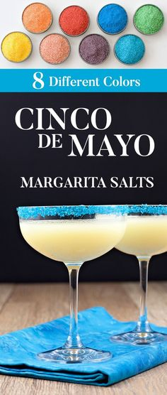 Celebrate Cinco De Mayo with a our colored Margarita Salts. Life is too short to serve boring margaritas: Add a bit of colorful fun with our margarita salts. Cocktails For Parties, Craft Cocktails, Party Drinks, Fun Drinks, Alcoholic Beverages, Margarita Salt, Margarita Recipes, Cocktail Garnish, Cocktail Menu