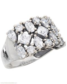 A little ice is nice! You'll love the blinged-out look of this #Sterling #Silver and #Cubic #Zirconia #Ring. #Silpada #Jewelry