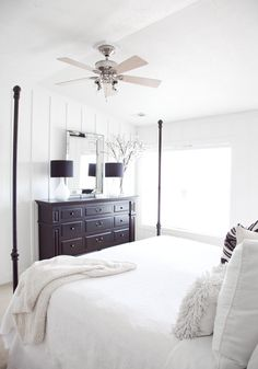 boxwood clippings modern farmhouse chic master bedroom