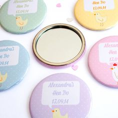 Personalised hens and chicks hen party mirrors by joanne hawker | notonthehighstreet.com