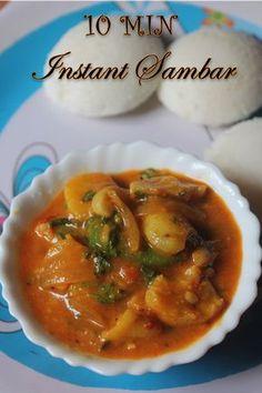 YUMMY TUMMY: Instant Sambar Recipe - 10 Min Sambar Recipe with Gram Flour