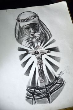 Maria e Jesus - tattoo sketch - Thiago Padovani - Maria e Jesus - tattoo . - Maria e Jesus – tattoo sketch – Thiago Padovani – Maria e Jesus – tattoo sketch – Thiago - Forearm Sleeve Tattoos, Body Art Tattoos, Hand Tattoos, Jesus Tattoo, Angel Tattoo Designs, Tattoo Sleeve Designs, Christus Tattoo, Religous Tattoo, Religious Tattoo Sleeves